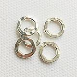 Komponenty - strieborný kovaný spojovací krúžok (Ag 925), 10 mm - 10794822_
