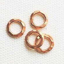 Komponenty - pozlátený strieborný tepaný krúžok, Ag 925 - 10794810_