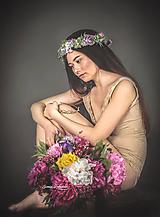 Ozdoby do vlasov - Romantický kvetinový venček z kolekcie LÚKA - 10796342_