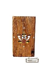 Hodiny - Dubové hodiny s farebným ornamentom - 10795547_