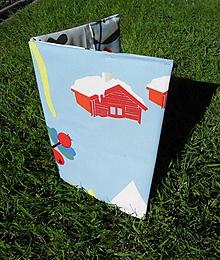 Papiernictvo - Obal na knihu s domom - 10797021_