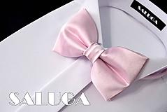 Detské doplnky - Detský ružový motýlik - 10795612_