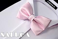 Doplnky - Pánsky ružový motýlik - 10795622_