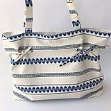 Kabelky - letná textilná kabelka modrá - 10796663_