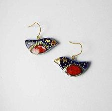 Náušnice - Tana šperky - keramika/zlato - 10796307_