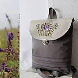 - Vyšívaný Batoh poľne kvety III - 10795592_