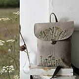 - Vyšívaný Batoh poľne kvety II - 10795605_