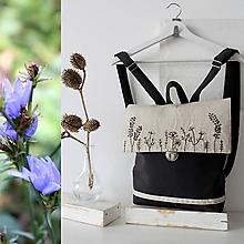 Batohy - Vyšívaný batoh Pastelové kvety - 10795621_