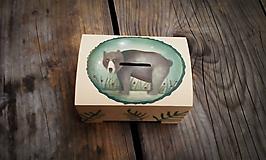 Krabičky - Pokladnička s macom - 10795758_