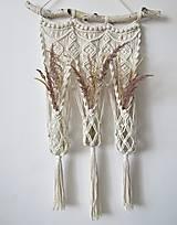 Dekorácie - Makramé závesná dekorácia PER ANNUM - 10796128_