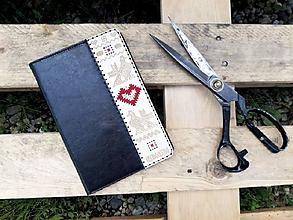Na tablet - Knižkové puzdro Folk pre iPad čierne - 10795977_