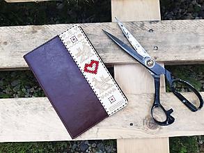Na tablet - Knižkové puzdro Folk pre iPad bordové - 10796004_