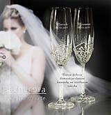 Nádoby - Svadobné poháre - 10796438_