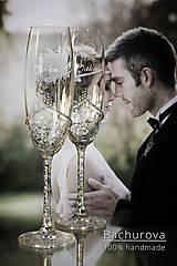 Nádoby - Svadobné poháre - 10796444_