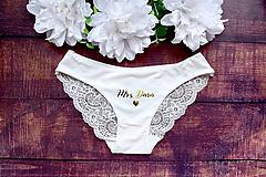 Svadobné nohavičky s čipkou MRS