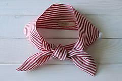 Šatky - Ľanová šatka - Stripes - 10795752_