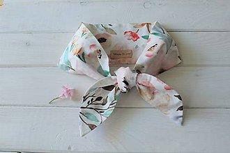 Šatky - Bavlnená letná mini šatka - Lovely Flower - 10796229_