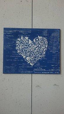 Tabuľky - Srdiečko z lásky  (Modrá) - 10795944_