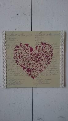 Tabuľky - Srdiečko z lásky  (Červená) - 10795970_