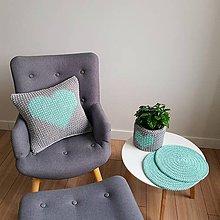 Úžitkový textil - Háčkovaný vankúš - 10794836_