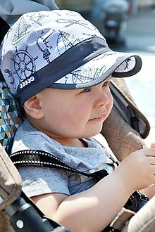 Detské čiapky - Letná šiltovka Kapitán s menom - 10797103_