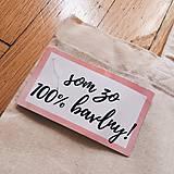 Veľké tašky - Ručne maľovaná bavlnená taška / Positive Vibes - 10796248_