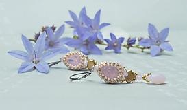 Náušnice - Visiace náušnice so Swarovski crystal Rozálie - 10796284_