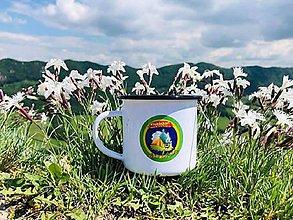 Nádoby - Plechový turistický hrnček (Strieborná) - 10796793_