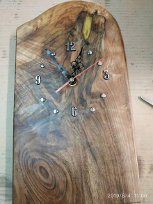 Hodiny - Nastené hodiny z orechového dreva - 10796845_
