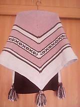 Šály - pletený šál - pléd - 10796815_