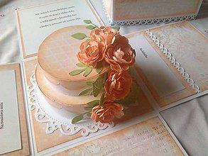 Papiernictvo - Svadobná gratulačná krabička Exploding box - 10795423_
