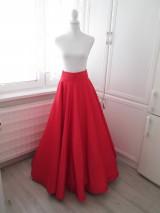 Sukne - Veľká saténová sukňa s vreckami - 10796212_