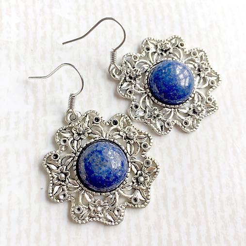 b5e29aee4 Vintage Classic Silver Lazurite Set / Set šperkov s lazuritom (Náušnice)