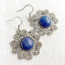 Sady šperkov - Vintage Classic Silver Lazurite Set / Set šperkov s lazuritom (Náušnice) - 10798422_