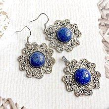 Sady šperkov - Vintage Classic Silver Lazurite Set / Set šperkov s lazuritom (Set náušnic a náhrdelníka) - 10798434_