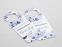 Papiernictvo - Príprava nevesty/ženícha modrá orchidea - 10798857_