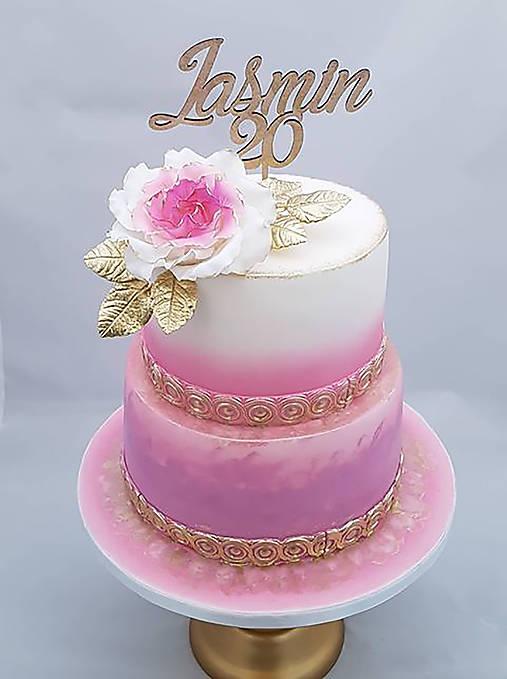 Zápich na tortu s číslom 20