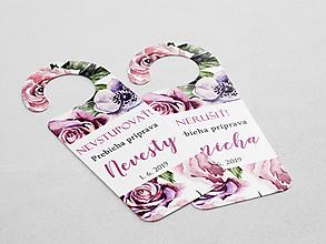Papiernictvo - Príprava nevesty/ženícha fialová - 10798901_