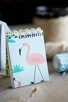 Papiernictvo - Mini bločik Plameniak - 10798580_