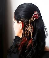 Ozdoby do vlasov - Ozdoba do vlasov - lapač snov-  Indiánka - 10798976_