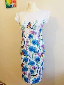 Šaty - Dámské šaty s modrymi květy - 10798505_