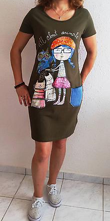 Šaty - Letné šaty - All about animals /ručná maľba/ - 10797557_