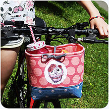 Detské tašky - Košík na bicykel BikeBag - OčiPuči Sovička Roozalka - 10799014_