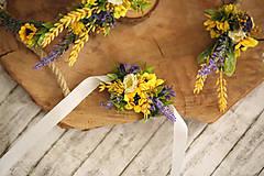 Pierka - Svadobné pierko pre ženícha - slnečnice - 10797137_