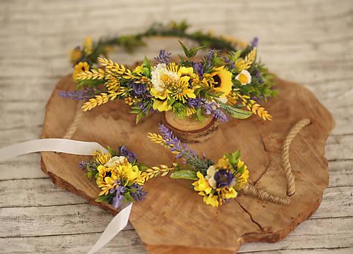 Svadobné pierko pre ženícha - slnečnice