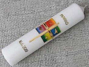 Detské doplnky - Krstová sviečka Marco - 10799410_