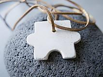 Náhrdelníky - Betónový prívesok - puzzle 4 - 10798866_