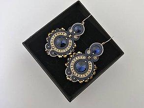 Náušnice - Šujtášové náušnice  (Modrá) - 10797590_