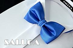 Detské doplnky - Detský kráľovsky modrý motýlik - 10798431_