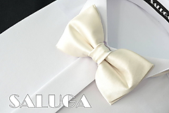 Doplnky - Pánsky ivory motýlik - maslový - svadobný - 10798448_